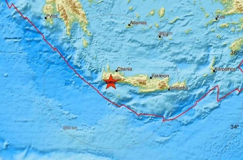 Σεισμός 3,7 Ρίχτερ στα Χανιά