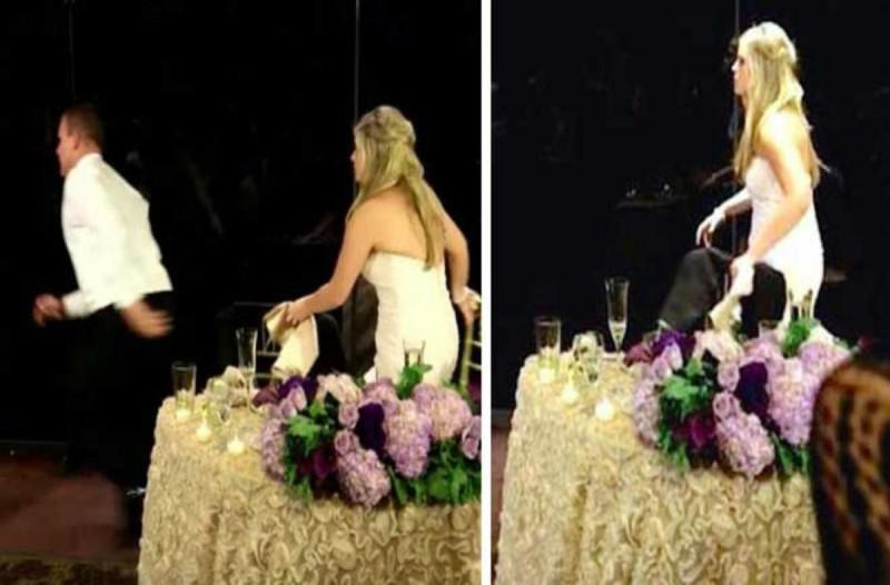 Κατά τη διάρκεια του γάμου τους, ο γαμπρός σηκώθηκε και άρχισε να τρέχει! - Δείτε γιατί...
