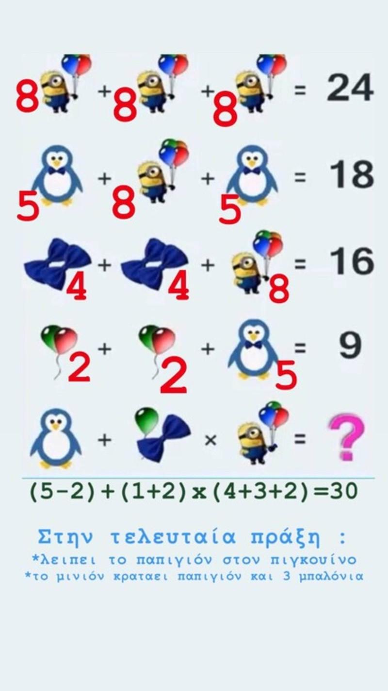 Αυτό είναι το μαθηματικό κουίζ που αρκετοί προσπάθησαν να το λύσουν αλλά δεν τα κατάφεραν.