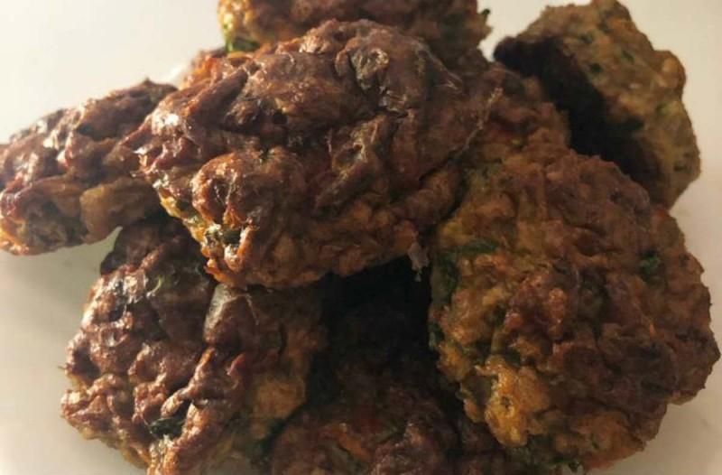 Κεφτεδάκια κοτόπουλου-λαχανικών στο φούρνο