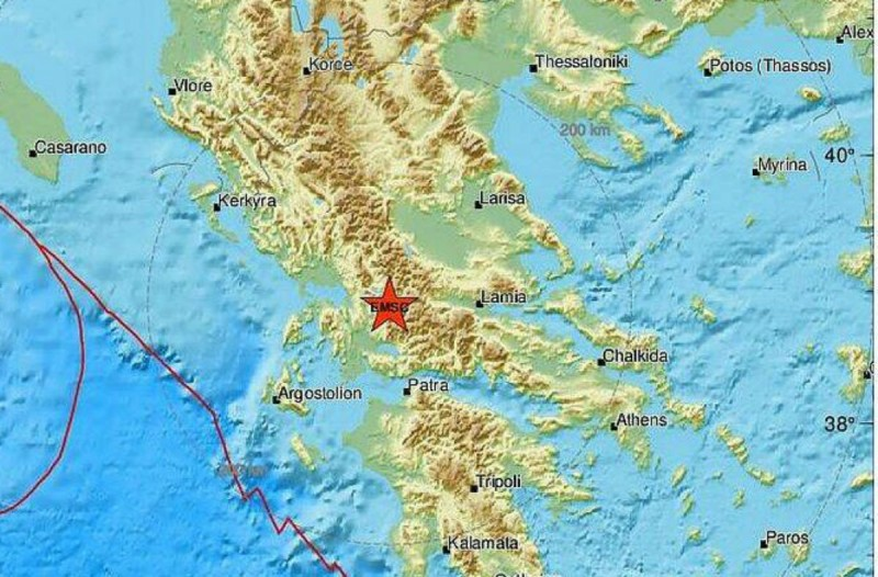 Σεισμός 4,4 Ρίχτερ στο Καρπενήσι