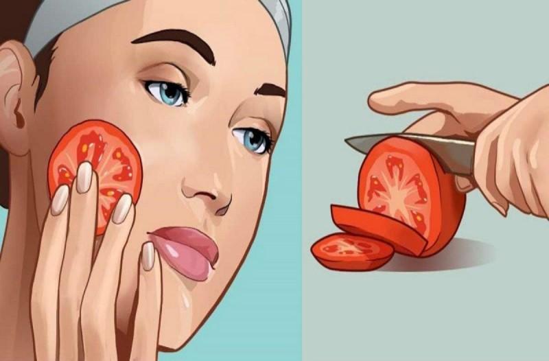 Βάζει μια φέτα ντομάτας στο πρόσωπο - Μόλις δείτε το λόγο θα τρέξετε να το κάνετε και εσείς!