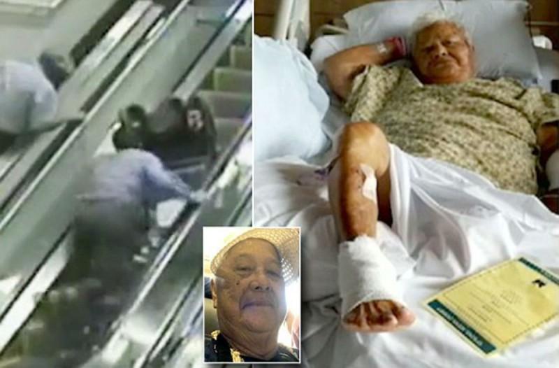 75χρονη γιαγιά σε αναπηρική καρέκλα πέφτει από τις κυλιόμενες σκάλες - Η συνέχεια είναι τραγική (Video)