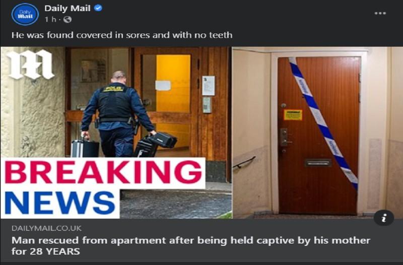 71χρονη μητέρα κρατούσε τον 41χρονο γιο της κλειδωμένο επί 28 χρόνια