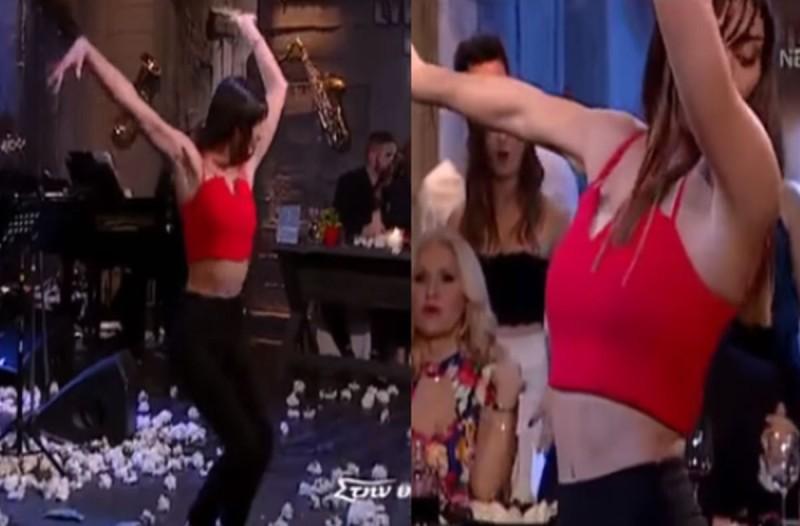 Ελληνίδα κορμάρα χόρεψε το πιο αισθησιακό τσιφτετέλι στην ελληνική τηλεόραση!