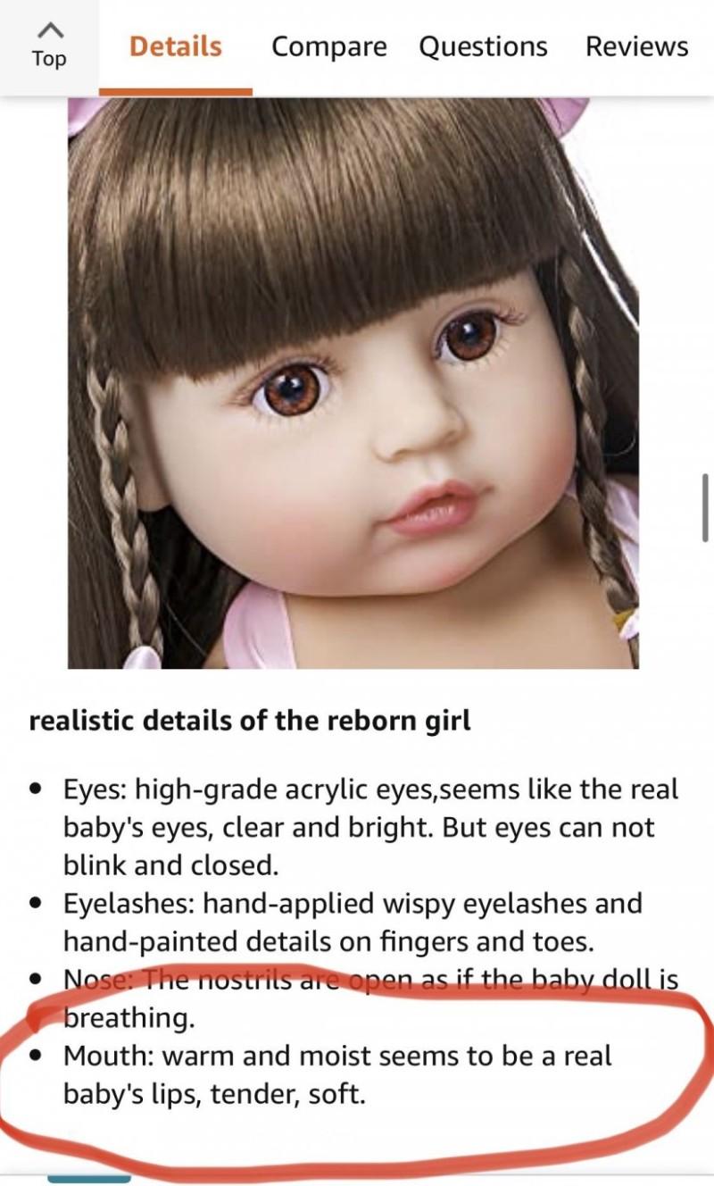 Ανώμαλη αγγελία στο Amazon: Παιδικές «κούκλες για παιδεραστές» με «μωρουδίστικα χείλη, τρυφερά και μαλακά»!