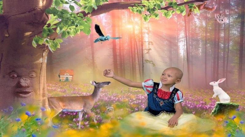 5χρονη με καρκίνο φωτογραφίζεται σαν πριγκίπισσα της Disney