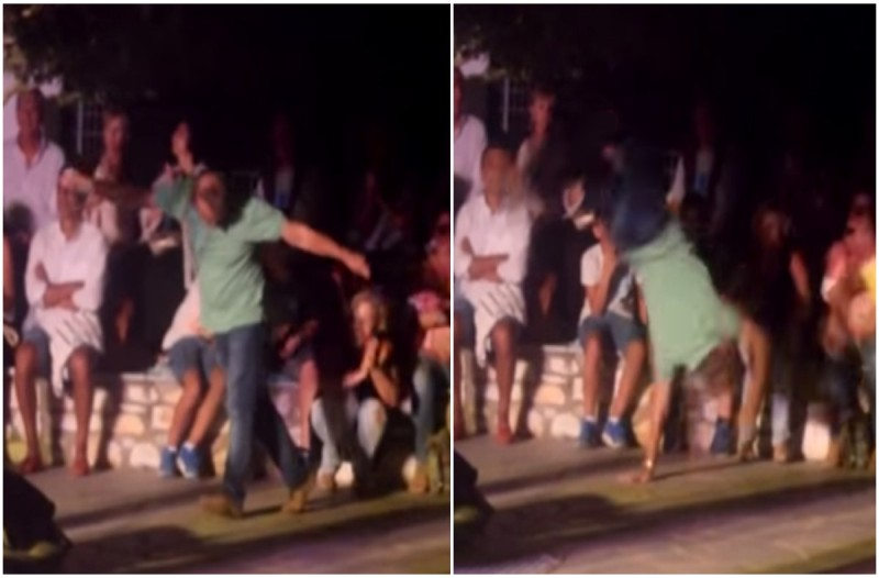 Άντρας χορεύει μερακλίδικο ζεϊμπέκικο με κωλοτούμπες και ξεσηκώνει τα πλήθη (Video)
