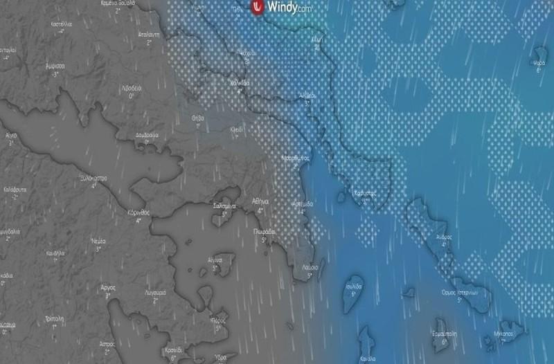 Μισό μέτρο χιόνι σε Μαραθώνα, Ραφήνα, Λούτσα, Πόρτο Ράφτη