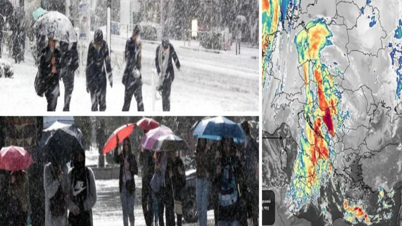 Έκτακτο δελτίο επιδείνωσης καιρού: «Βουτιά» της θερμοκρασίας και χιόνια