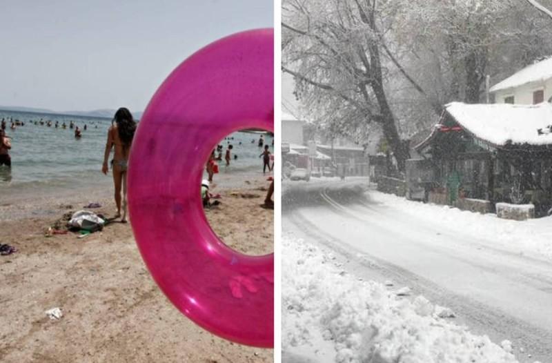 Ασύλληπτο: Βαράει 30αρια ο καιρός το Σαββατοκύριακο και μετά από 4 μέρες έρχεται χιονιάς!