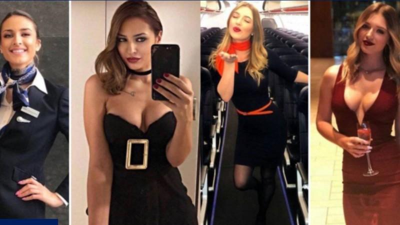 Γυναικάρες που τα σπάνε - Αεροσυνοδοί χωρίς στολή με κορμιά-κόλαση - Σκέτος πειρασμός!