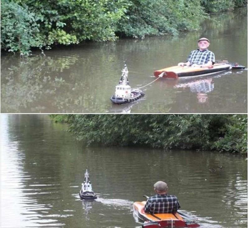 Έβγαλε την κάμερα όταν είδε έναν παππούλη σε μια βάρκα να τον τραβάει...