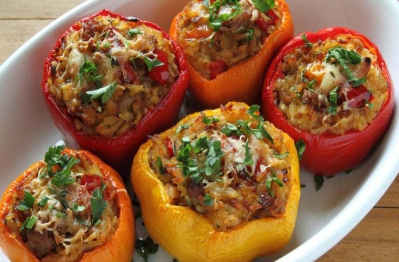Συνταγή για πιπεριές γεμιστές με κοτόπουλο