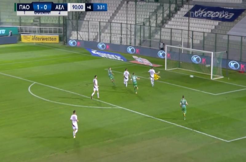 Super League: «Καθάρισε» την ΑΕΛ ο Παναθηναϊκός (Video)