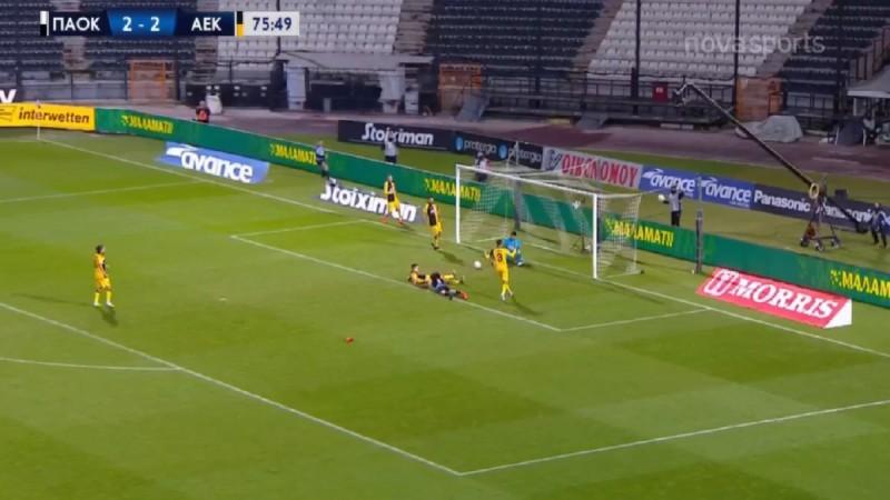 Super League: Ματσάρα στην Τούμπα! Ισοπαλία 2-2 ΠΑΟΚ και ΑΕΚ (Video)