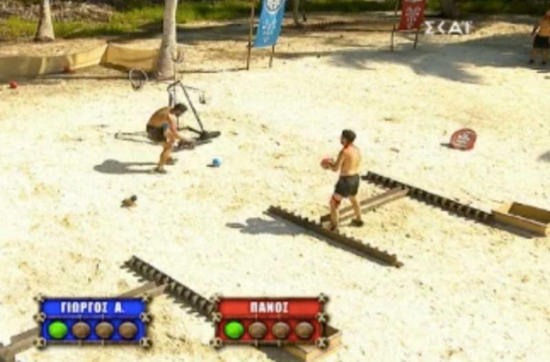 Survivor 4: Σκάνδαλο στο αγώνισμα - Ο Ασημακόπουλος παρενοχλεί τον Καλίδη στις βολές και δεν τιμωρείτα!