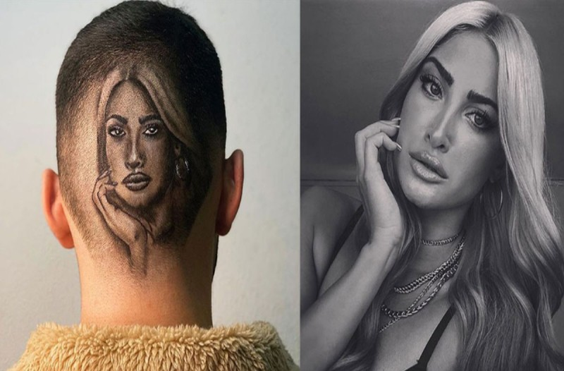 Θαυμαστής της Ιωάννας Τούνη σχεδίασε στο κεφάλι του το πρόσωπό της