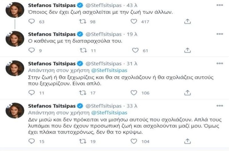 Στέφανος Τσιτσιπάς twitter
