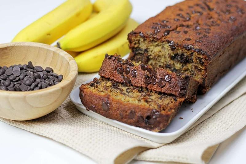 Κέικ μπανάνας χωρίς ζάχαρη και χωρίς αυγά