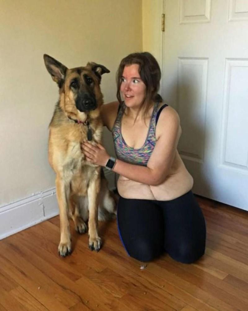 Η παχύσαρκη κοπέλα που αδυνάτισε κάνοντας τζόκινγκ με τον σκύλο της