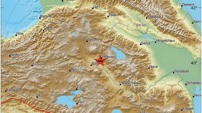 Μεγάλος σεισμός στην Αρμενία - Ένας τραυματίας