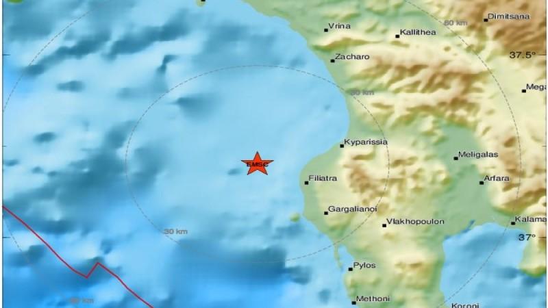Σεισμός στη Μεσσηνία