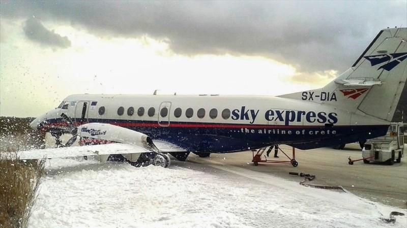 Κακοκαιρία Μήδεια: Ακυρώσεις πτήσεων από την Sky express