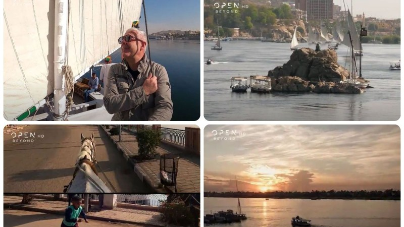 Εικόνες: Ο Τάσος Δούσης μας ξεναγεί στο Ασουάν της Αιγύπτου - Μη χάσετε το επόμενο επεισόδιο!