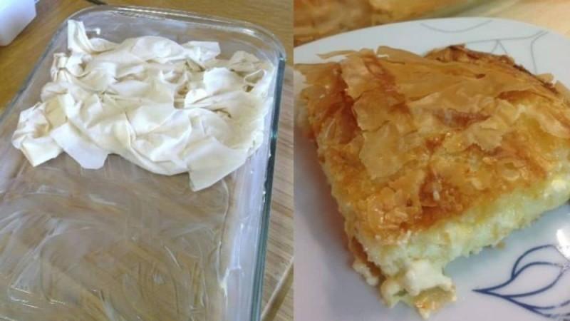 Τραγανή πατσαβουρόπιτα με τυρί φέτα: Παραδοσιακή συνταγή για την πιο εύκολη τυρόπιτα που μπορείτε να φτιάξετε