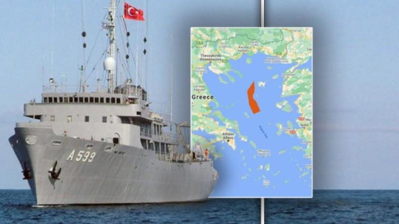 Στο Αιγαίο χωρίς να μεταδίδει στίγμα το τουρκικό πλοίο