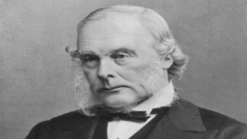 Τζόζεφ Λίστερ, Άγγλος χειρουργός, που έθεσε τις βάσεις για την αντισηπτική χειρουργική