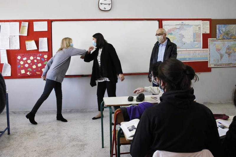 Η υπουργός παιδείας βρέθηκε σε Λύκειο στο Ίλιον