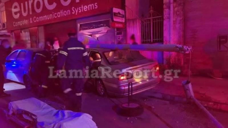 Τραγωδία στη Λαμία: Ανακοπή έπαθε η 36χρονη που έπεσε με το αυτοκίνητο σε κολόνα
