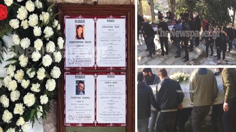 Σκηνές αρχαίας τραγωδίας στη Μακρινίτσα - Θρήνος στο «τελευταίο αντίο» για τα δύο αδέλφια που δολοφονήθηκαν (photo-video)