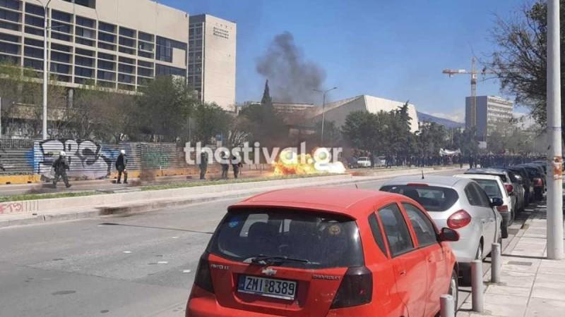 Θεσσαλονίκη: Σοβαρά επεισόδια με μολότοφ μετά την πορεία των φοιτητών