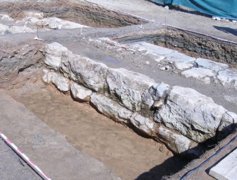 Μέρος του τείχους της Σαλαμίνας