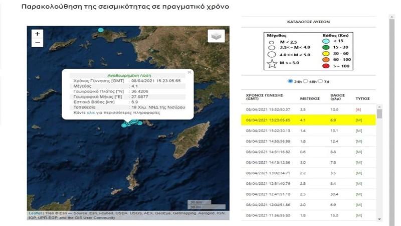 Σεισμός στη Νίσυρο