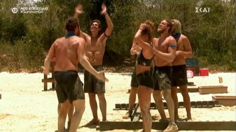 Survivor 4: Νικήτρια η Μπλε ομάδα στο αγώνισμα επικοινωνίας (Video)