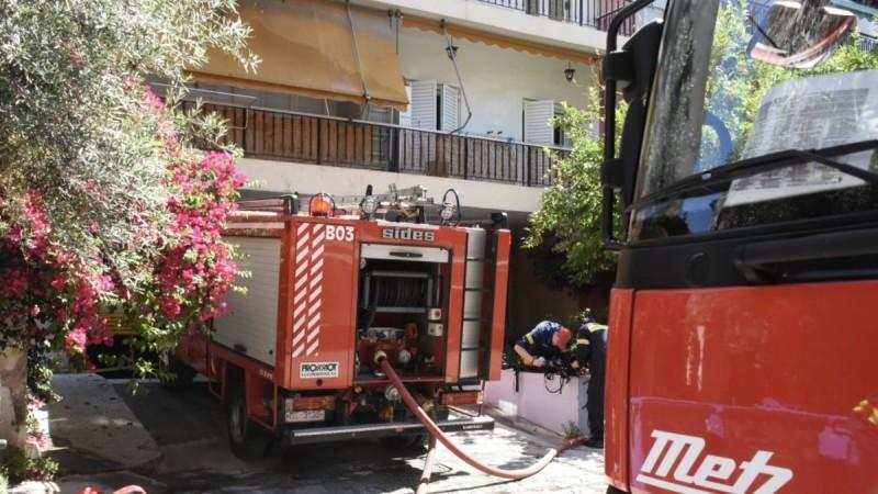 Φωτιά σε σπίτι στην Καλλιθέα