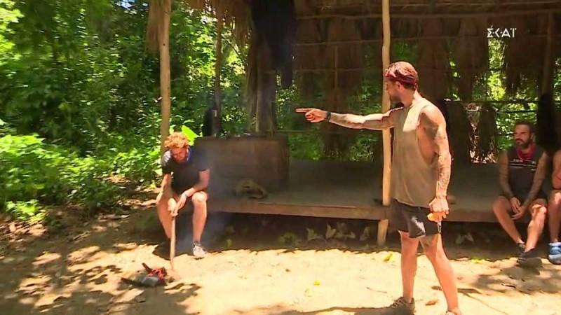 Survivor 4: Παραλίγο στα χέρια Ηλίας και Τζέιμς - «Άκουσα να μιλάς για μένα, έλα εδώ…»