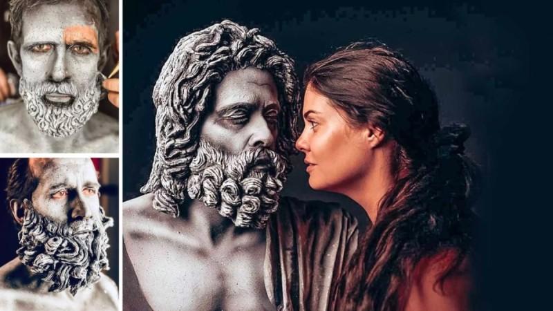 Παγκόσμια Ημέρα Πολιτισμού: Ηθοποιοί μεταμορφώθηκαν σε αγάλματα