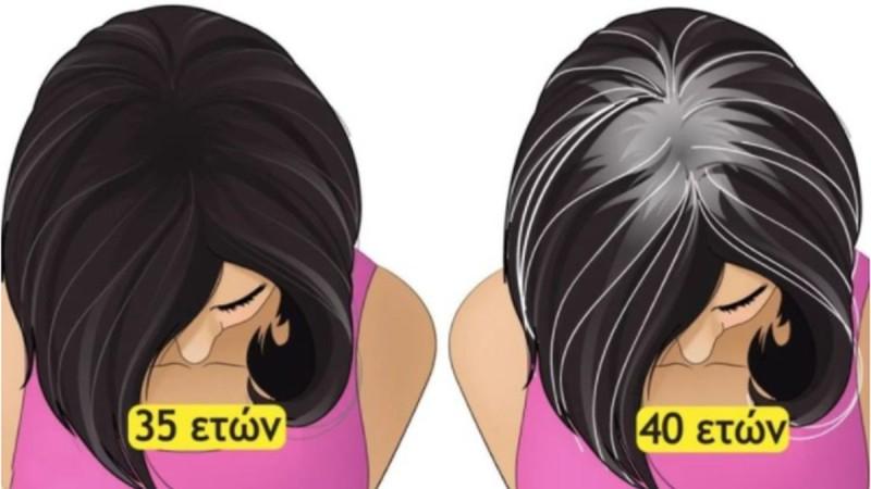 Άσπρισαν πρόωρα τα μαλλιά σας; Τι σημαίνει για την υγεία σας και τι πρέπει να κάνετε