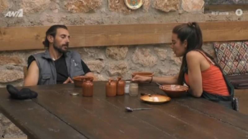 Φάρμα: Ερωτικό... καβγαδάκι Ντούπη και Κυριακής - Η ατάκα που τον έκανε έξω φρενών