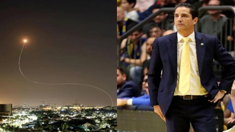 Νύχτα τρόμου στο Ισραήλ: Ο Γιάννης Σφαιρόπουλος κλείστηκε σε καταφύγιο