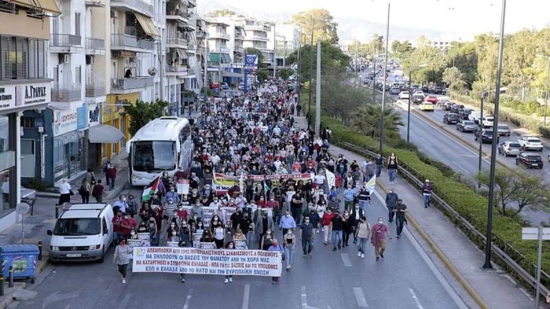 Κατεχάκη: Κλειστή και στα δυο ρεύματα λόγω πορείας διαμαρτυρίας για το Ισραήλ