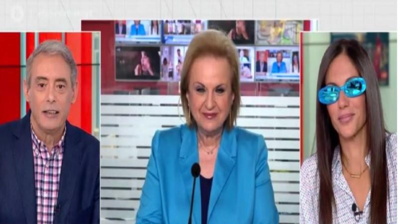 «Στράβωσε» η Παγώνη με Χασαπόπουλο-Βούλγαρη για τα viral μπλε γυαλιά της - «Δεν είναι του στυλ σας...» (Video)