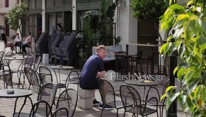 Ο φωτογραφικός φακός απαθανάτισε τον σεφ Ράμσει στα Χανιά