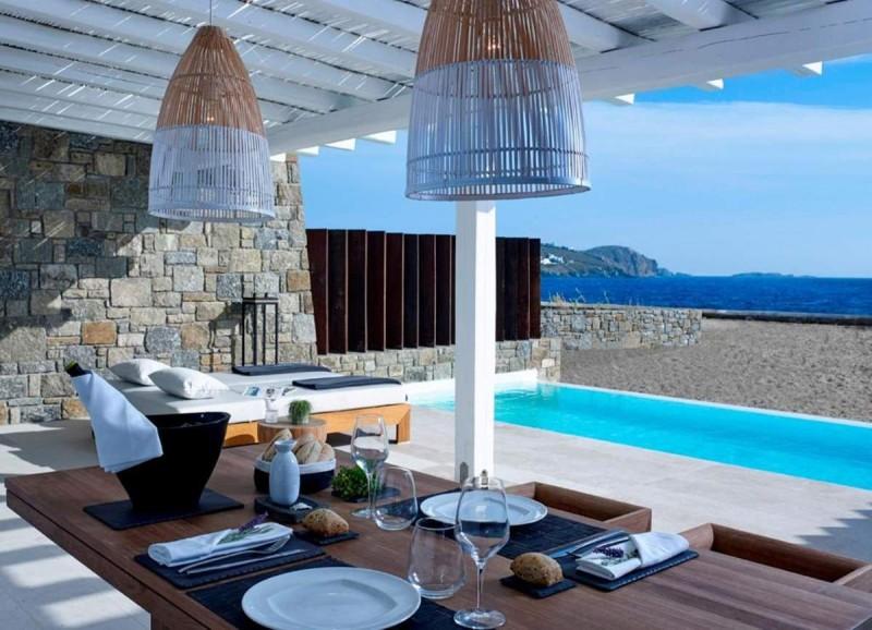 Bill & Coo Coast Suites φαγητό δίπλα στην πισίνα