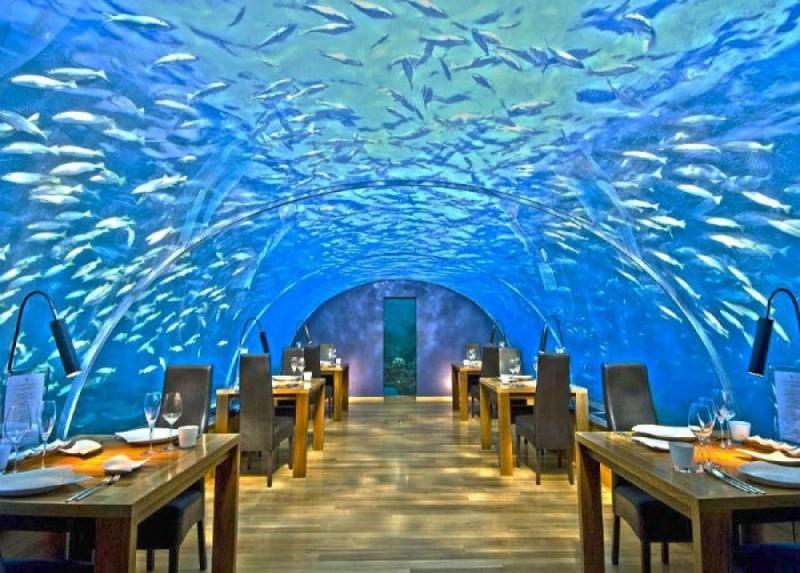 Το υπόγειο εστιατόριο Ithaa στις Μαλδίβες